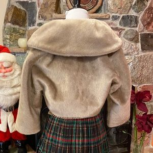 GIFTED Vintage faux fur mink stole jacket